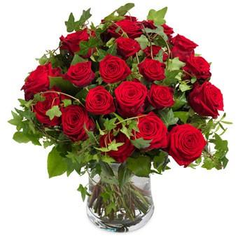 Mooi rode rozenboeket