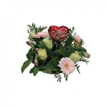 Valentijnsboeket l. roze