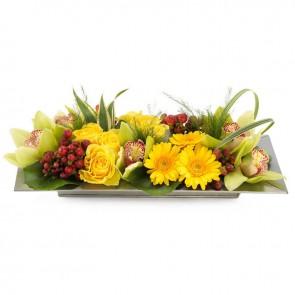 Mooie bloemenplateau