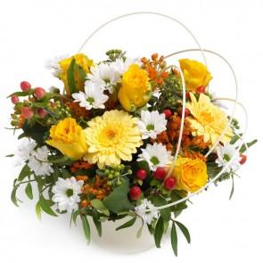 Vrolijk bloemstukje